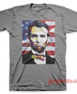 Abe Lincoln Gray T-Shirt