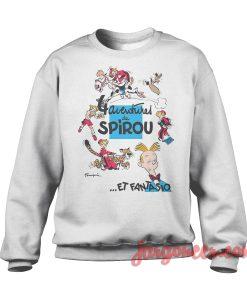 Adventure De Spirou Et Fantasio Crewneck Sweatshirt