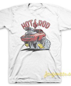 Hotrod On Fire T Shirt