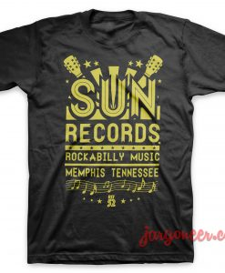 Sun Records - Rockabilly Music T-Shirt