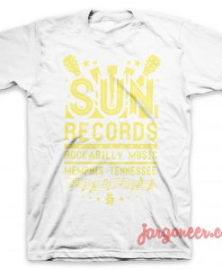 Sun Records Rockabilly Music T Shirt