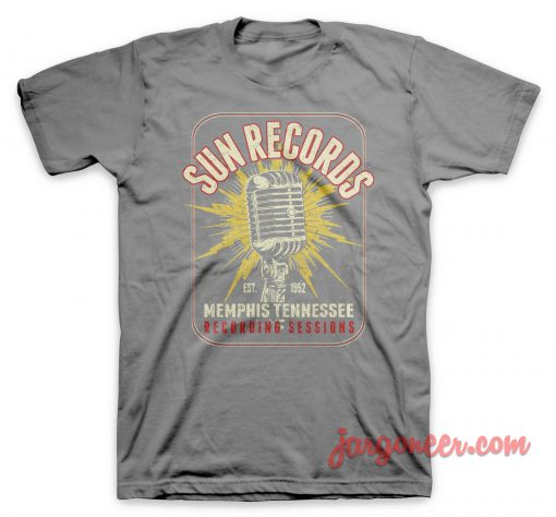 Sun Records - The Microphone Of Memphis T-Shirt