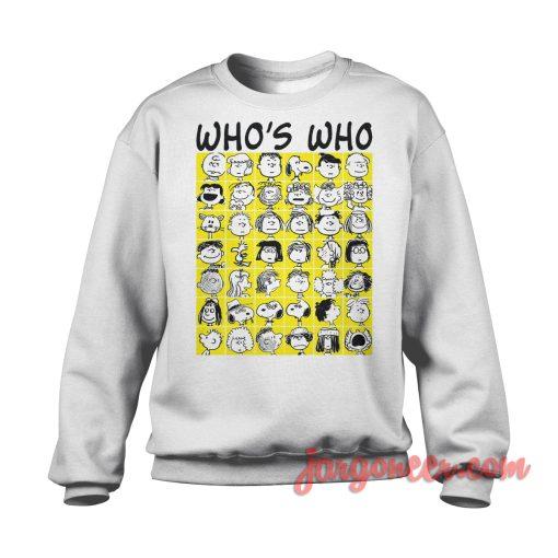 The Peanuts Who's Who Sweatshirt