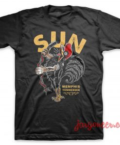 The Singing Rooster Of Sun Black T-Shirt
