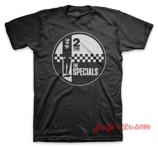 The Specials - Circle 2 Tone Black T-Shirt