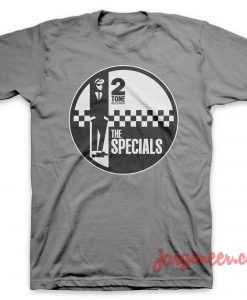 The Specials - Circle 2 Tone Gray T-Shirt