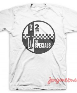 The Specials - Circle 2 Tone White T-Shirt