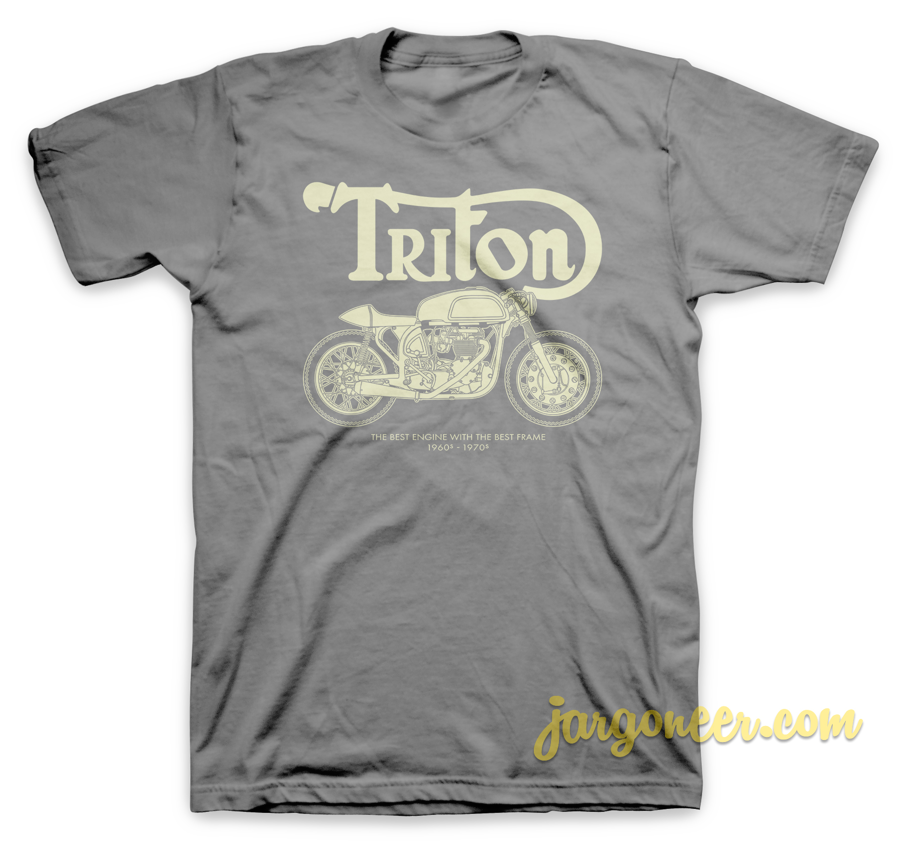 Triton Caferacer 1960 - 1970 Gray T-Shirt