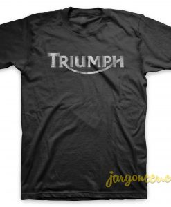 Triumph Logo Grunge Black T-Shirt