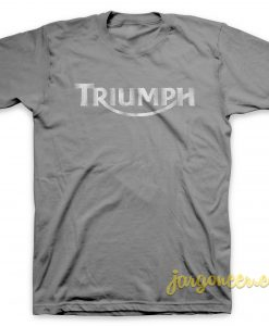 Triumph Logo Grunge Gray T-Shirt