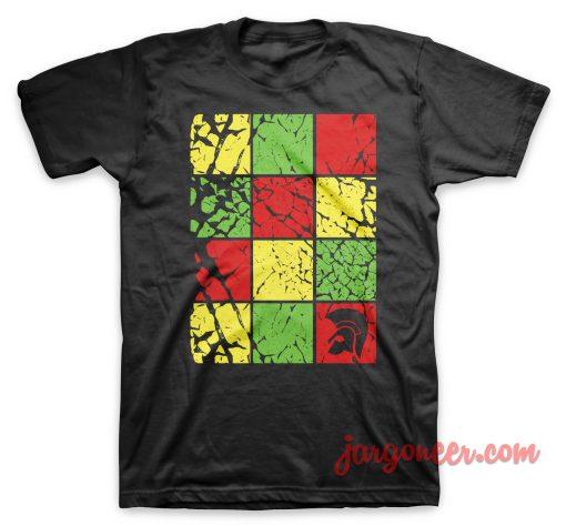 Trojan Checkboard Black T-Shirt
