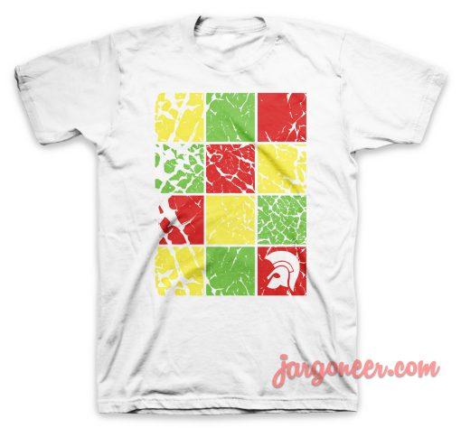 Trojan Checkboard White T-Shirt