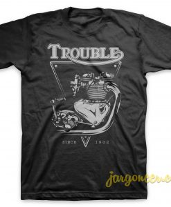 Trouble Engine Black T-Shirt