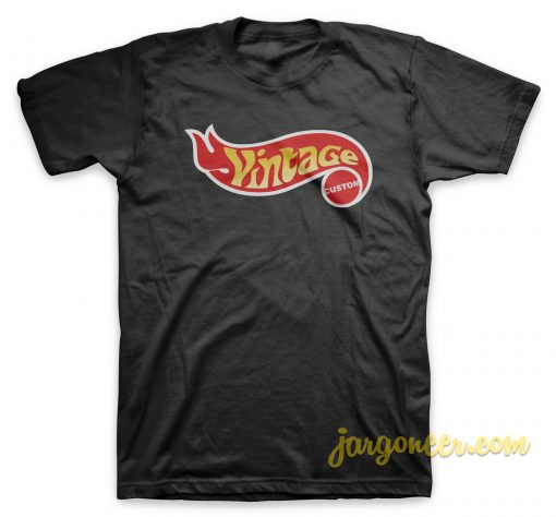 Vintage Custom Black T-Shirt