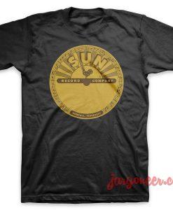 Vinyl Sun Black T-Shirt