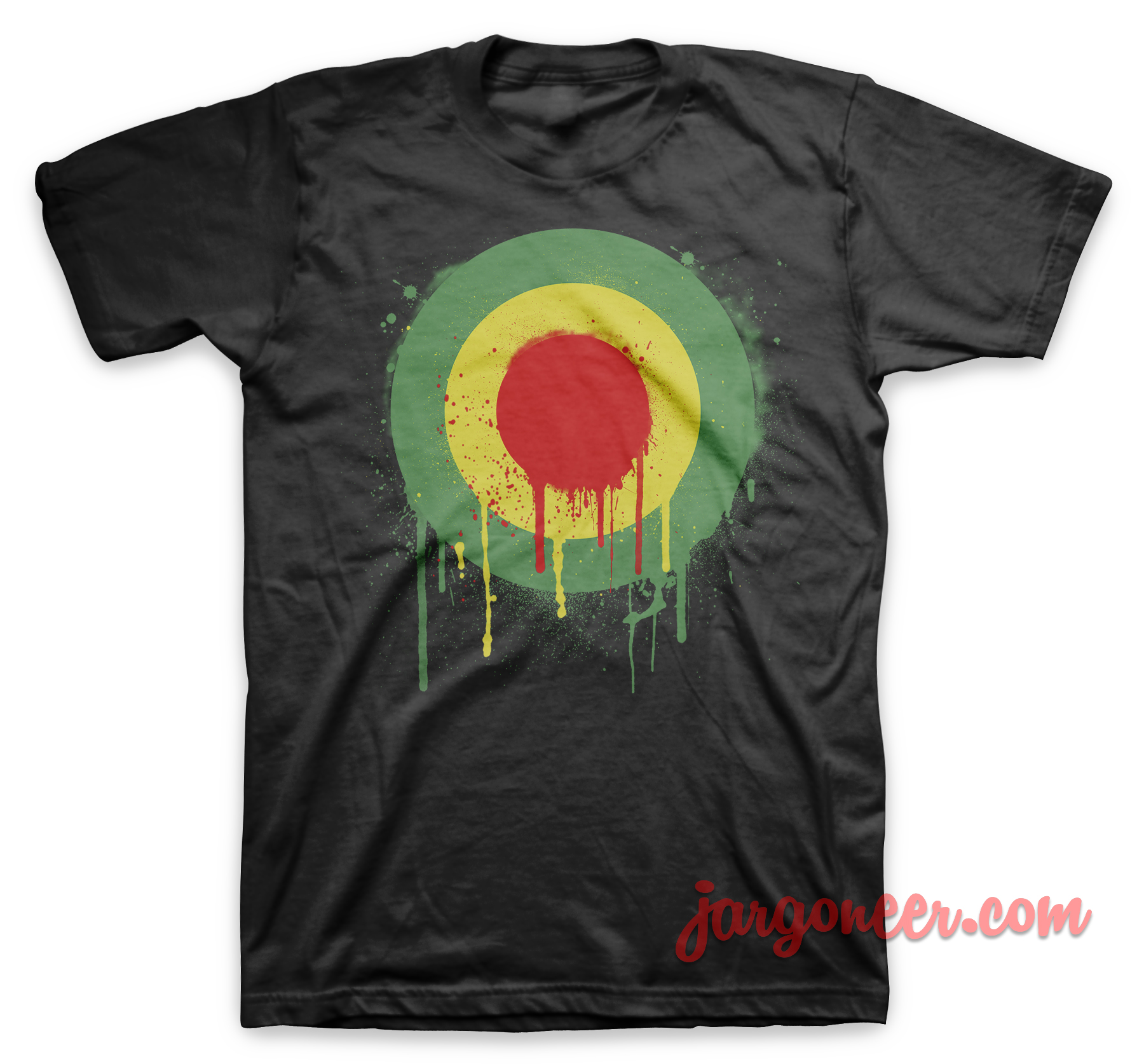 Wet Jamaican Mods Black T-Shirt