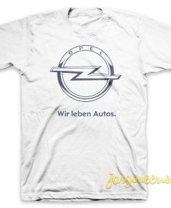 Wir Leben Autos White T-Shirt