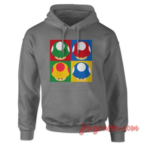 Super Mario's Mushrooms Hoodie
