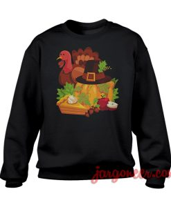 Happy Thanksgiving Elements Sweatshirt Cool Designs Ready For Men's or Women's