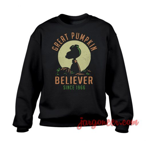 Pumpkin Believer Sweatshirt Cool Designs Ready For Men's or Women's