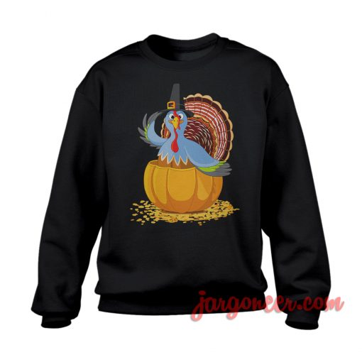The Blue Turkey Sweatshirt Cool Designs Ready For Men's or Women's