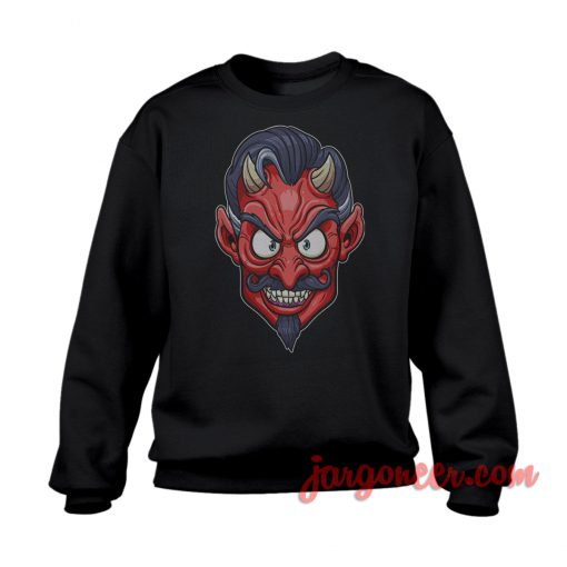 The Face Of The Devil Sweatshirt Cool Designs