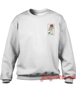 Rose In Hand Small Logo Sweatshirt