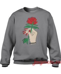 Rose In Hand Sweatshirt