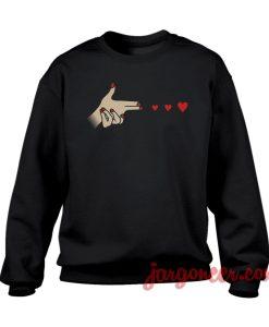 Hand Shot Love sweatshirt