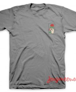 Rose In hand Small Logo T-Shirt