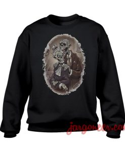 Zombie Couple Sweatshirt Cool Designs Ready For Men's or Women's