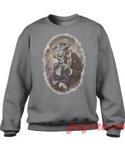 Zombie Couple Sweatshirt Cool Designs Ready For Men's or Women's