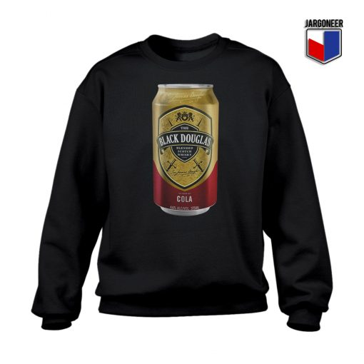 Black Douglas Whisky Cola Tin Crewneck Sweatshirt