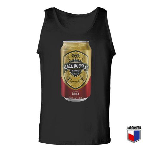 Black Douglas Whisky Cola Tin Unisex Adult Tank Top
