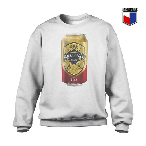 Black Douglas Whisky Cola Tin Crewneck Sweatshirt