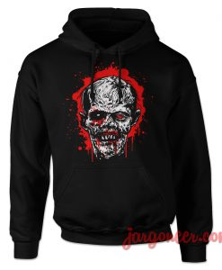 Bloody Head Of Zombie Hoodie