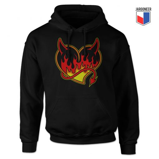 Burning Black Heart Devil Hoodie