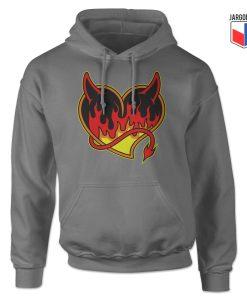 Burning Black Heart Devil Hoodie