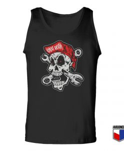 Cheating Death Skull Unisex Adult Tank Top