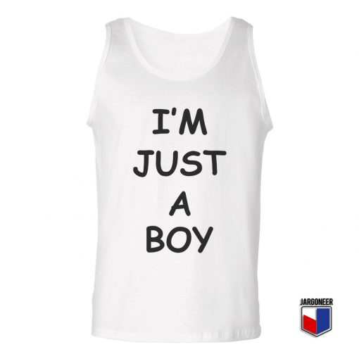 IM JUST A BOY Unisex Adult Tank Top