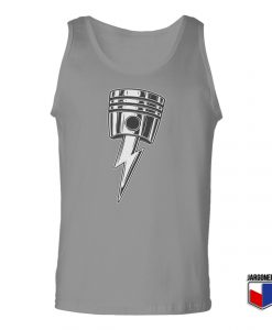 Lightning Bolt Piston Unisex Adult Tank Top