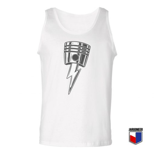 Lightning Bolt Piston Unisex Adult Tank Top