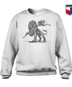Lion Of Judah Statue Crewneck Sweatshirt