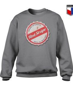 Red Stripe Bottle Cap Crewneck Sweatshirt