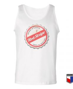 Red Stripe Bottle Cap Unisex Adult Tank Top