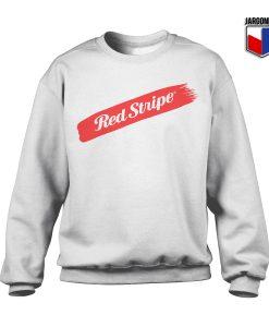 Red Stripe Swash Crewneck Sweatshirt