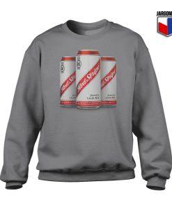 Red Stripe Three Lager Cans Crewneck Sweatshirt