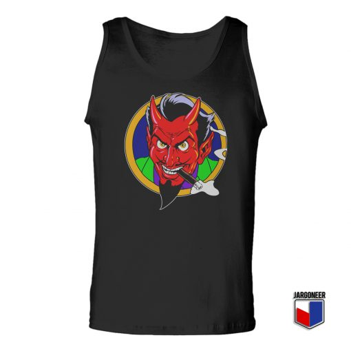 The Red Devil Face Unisex Adult Tank Top