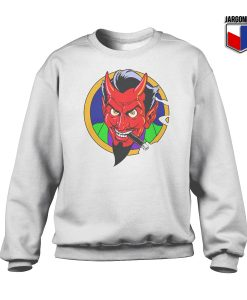 The Red Devil Face Crewneck Sweatshirt