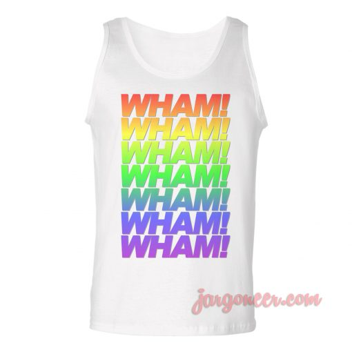 Wham Wham Rainbow Unisex Adult Tank Top